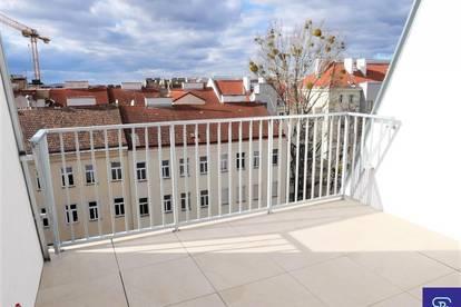 Erstbezug: 104m² DG-Wohnung + 19m² Terrassen mit Einbauküche!