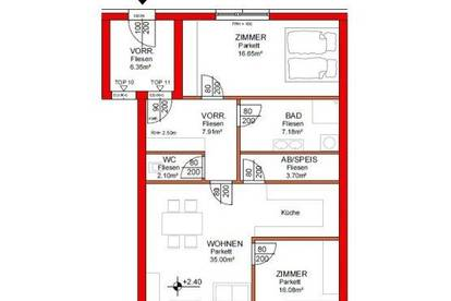 IN PLANUNG - NEUES BAUVORHABEN IM ZENTRUM VON RANSHOFEN (OÖ) - 3 Zimmer-Wohnung mit Balkon!