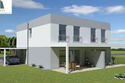Modernes Doppelhaus mit Keller - Fertigstellung April 2020
