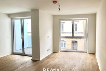 LEBEN AM BENEDIKTINERMARKT: 2-Zimmer-Wohnung mit Loggia im VITANEUM