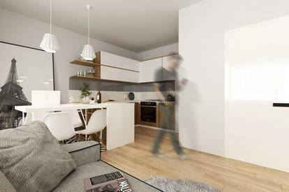 Innovativer Neubau: Traumhafte Single-Wohnung mit großer Terrassen-& Hoffläche