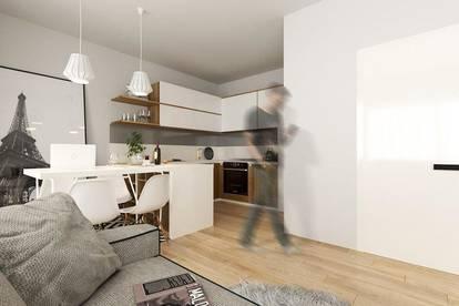 Neubau: 1-Zimmer Wohnung mit Loggia