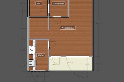 45m2 Single Wohnung