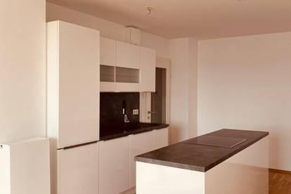 Provisionsfrei, ERSTBEZUG,  5. Liftstock, Helle 2 Zimmer mit Balkon, Einbauküche, Weitblick, Ruhig