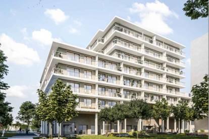 Provisionsfrei, ERSTBEZUG, 5. Liftstock, Helle 2 Zimmer mit 7m² Loggia, Einbauküche, Weitblick, Ruhig, Hofseitig