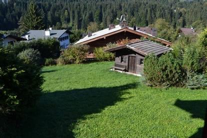 Großflächiges und bebautes Grundstück in Sonnenlage, am Stadtrand von Kitzbühel