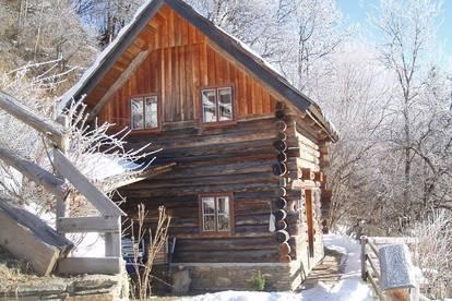 Hütte am Berg