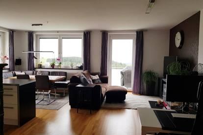 Mietwohnung im Zentrum von Eidenberg mit herrlichem Ausblick; 3-Zimmer