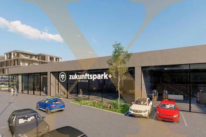 ZUKUNFTSPARK+   Verkaufs-/Geschäfts-/Schauraumflächen in Tulln zu vermieten - Adaptierung nach Mieterwunsch! Erweiterungsmöglichkeit gegeben!