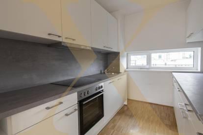 WG-geeignete 3-Zimmer-Wohnung mit nagelneuer Einbauküche und Loggia ab sofort in Urfahr zu vermieten!