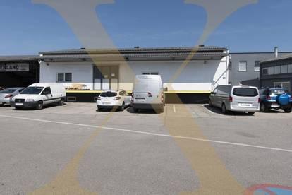 Lagerhalle mit Falttor, Lastenlift, Freifläche sowie Büroteil in Linz-Wegscheid zu vermieten