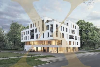 Neubauprojekt - Am Schlosspark Traun - Flexible Geschäfts-/Büroeinheiten zum Kaufen (zB Geschäftslokal mit 76,46m²)!
