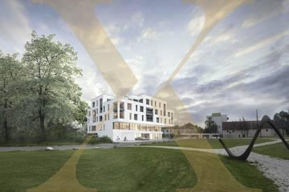 Neubauprojekt - Am Schlosspark Traun - Flexible Geschäfts-/Büroeinheiten zu Kaufen (zB Geschäftslokal mit 172,39m²)