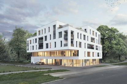 Neubauprojekt - Am Schlosspark Traun - Flexible Geschäfts-/Büroeinheiten zum Kaufen (zB Geschäftslokal mit 366,45m²)!