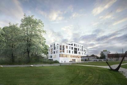 Neubauprojekt - Am Schlosspark Traun - Flexible Geschäfts-/Büroeinheiten zum Kaufen (zB Büro mit 123,10m²)