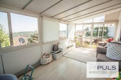 GANZ WIEN UNTER SICH | Eigengrund mit Blick über Wien und charmantem Kleingarten-/Einfamilienhaus am herrlichen HEUBERG