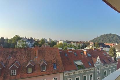 Privat: Blick über Graz in Geidorf KF-Universität Nähe