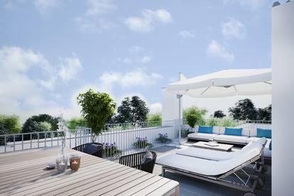 Wohnen der Extraklasse - Dachgeschoß-Wohnung mit privater Grün-Ruhe-Oase
