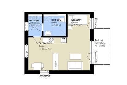 Exklusive 1- Zimmer Wohnung im Herzen von Wetzelsdorf