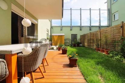 Pärchentraum: Neuwertige 2-Zimmer-Terrassenwohnung mit Fußbodenheizung und Garagenstellplatz