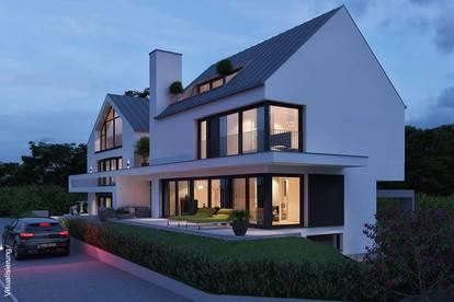 Neubau: Architekten-Villenhälfte im ruhigen Salzburg-Nonntal