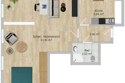 Charmante 1,5 – Zimmer Dachgeschosswohnung in St. Leonhard! Nähe Uni!