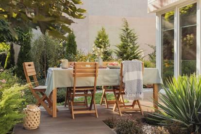 3-Zimmer Gartenwohnung mit 86m2 Wfl. / 32m2 Terrasse & 52m2 Eigengarten
