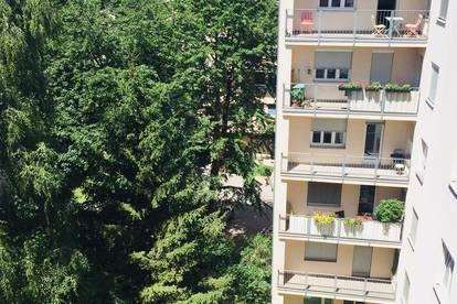 ruhige, sonnige Wohnung mit Balkon im Grünen, beim Hauptbahnhof