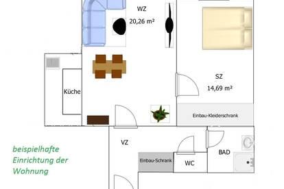 PRIVAT 51m² Dachgeschoss-Wohnung im Zentrum von Schwechat