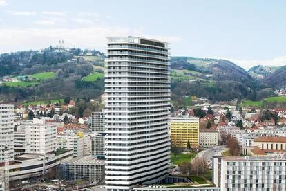 Provisionsfrei: 2 Zimmer, Bruckner Tower, 22. Stock, Erstbezug