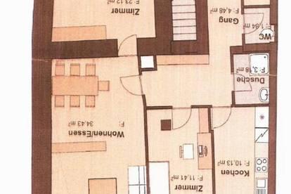 Vermiete 3-4 Zimmer Wohnung mit Terrasse ( Garten) plus Parkplatz