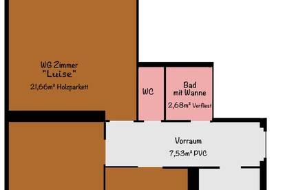 1 Zimmer in 3er WG frei!  Wr. Neustadt Zentrum