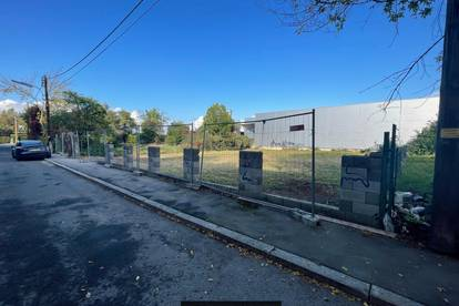 Komplett leeres, südwestlich orientiertes Grundstück zu vermieten | 950m² | Nähe U1 Leopoldau