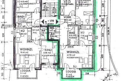3-Zimmer Wohnung mit Loggia und eigener Garage