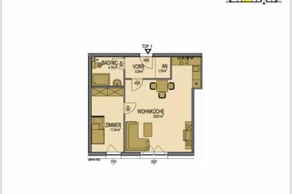 Provisionsfrei! Erstbezug 2-Zimmer-Wohnung