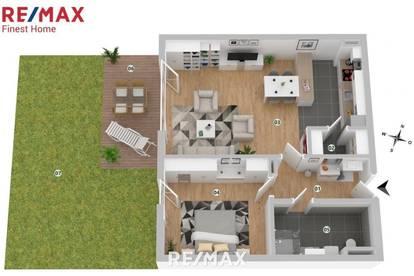 Erstbezug: Moderne 2 Zimmer-Gartenwohnung mit Terrasse in einer exklusiven Atmosphäre!