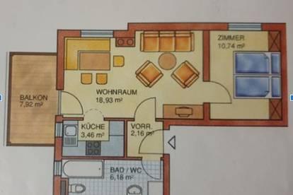 Schöne, gut geschnittene 2-Zimmer Wohnung (41 m²) mit Balkon (8 m²) ab 01.02.2020 zu vermieten.