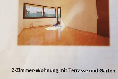 2-Zimmer Wohnung mit Terrasse und Garten