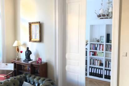 Wunderschöne Altbauwohnung Cottageviertel, luxuriös möbliert, komplett ausgestattet und servisiert. Provisionsfrei!