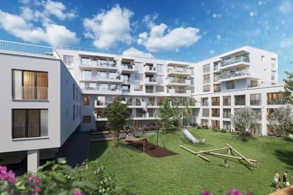 SCHALLMOOS - NÄHE BAHNHOF: 2 Zimmer Neubau Wohnung mit Westloggia