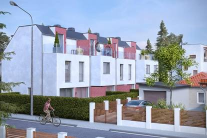 ERSTBEZUG & UNBEFRISTET: Reihenhaus mit Dachterrasse, Keller, Fußbodenheizung, elektr. Jalousien