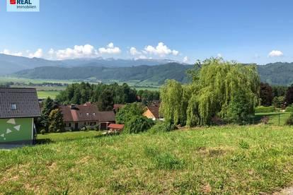 Schönes Grundstück mit Panoramablick in Thermennähe