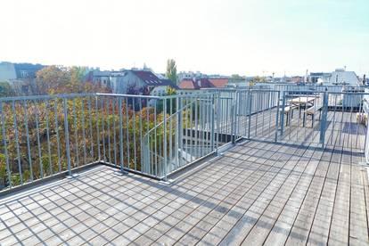 Nur 2 Min. vom Naschmarkt! Exklusive 3 Zi DG- Maisonette, ca. 109m², mit ca.18m² Dachterrasse mit großartigem Aus-und Rundumblick!