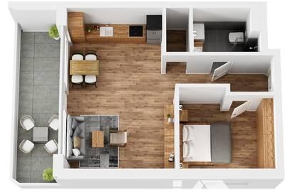 """RESERVIERT! TOP 9 Wohnprojekt """"Endach 18"""": 2 Zimmer Wohnung"""