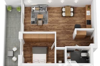"""TOP 13 Wohnprojekt """"Endach 18"""": 2 Zimmer Wohnung"""
