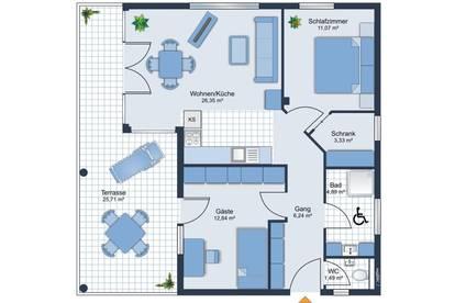 ERSTBEZUG! 3-Zimmer-Neubauwohnung in Kufstein ab sofort zu vermieten!