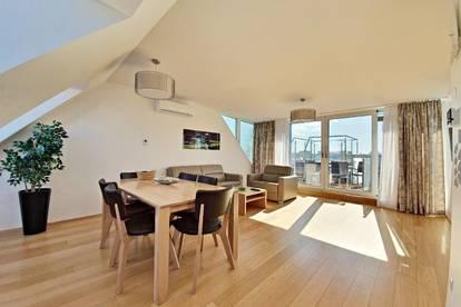 ++NEW fully furnished++ Exklusive High-end Apartment plus Terrasse mit traum Blick!  1 Minute zum Augarten!