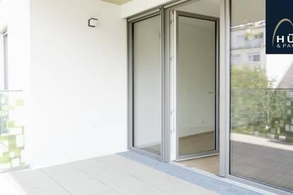 ERSTBEZUG: hofseitiges 2-Zimmer-Apartment mit großem Balkon