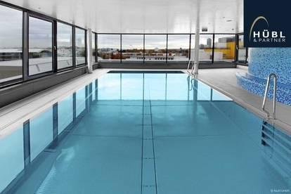 Helle 2-Zimmer Wohnung mit Balkon | Nähe Vienna Int. School | Panorama-Pool & Dachterrasse