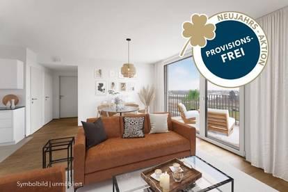 PROVISIONSFREI | 2-Zimmer mit Balkon | Erstbezug | Klimaanlage | Markenküche | Fußbodenheizung | elektr. Außenbeschattung | Erdwärme